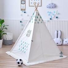 YARD Wooden Play Indian Tent Kids Solid Color Children Poles Indoor Play Tents Kids House Children Tent