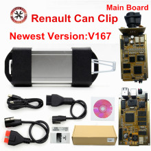 Newest V167 For Renault Can Clip Full Chip Gold AN2131QC Best Car Scanner For Renault Can Clip Diagnostic Interface Free Ship(China)
