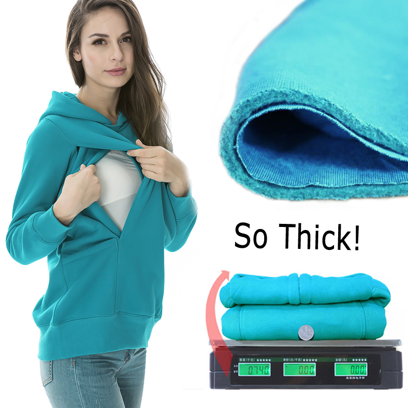 Maternity clothes Nursing tops Winter Sweater Breastfeeding Tops Maternity Hoodie Thermal pregnancy clothes for pregnant women<br><br>Aliexpress