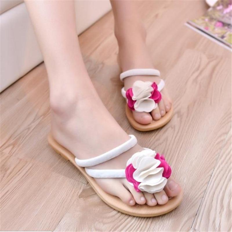 Bohemia flowers slippers new 2016 Black Nude Valentine Brand Designer Flip Flops Women Flat Female Slippers Summer Shoes<br><br>Aliexpress