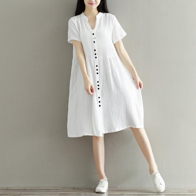 Womens-Dresses-Cotton-Linen-Blue-White-Dress-Short-Sleeve-Woman-Dress-Summer-Casual-Loose-Plus-Size.jpg_640x640