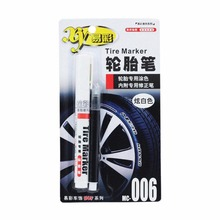 1 Set of White-Color Permanent Tire Marker Pen for Car Tyre and Motocycle Tyre(China)
