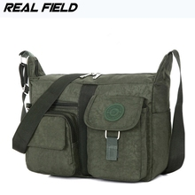Real Field Women Shoulder Bags Waterproof Nylon Taffeta Lady Sling Messenger Bag Female Crossbody Bags Men Messenger Handbag 269