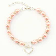 Armi store Handmade Pearl Dog Cat Jewelry Necklace 6051001 Size L / M / S / XS Pet Collar(China)