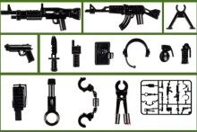 LX0304 military weapons guns original toy swat police military weapons accessories Compatible lepin mini figures