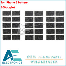 100pcs/lot Replacements shielded sponge pad foam cushion for iPhone 6 Battery Cover(China)