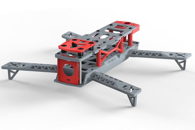 KING KONG 260 mini drone integrated frame with tail light 2 frames +10 propellers QAV250 cross racing quadcopter frame<br>
