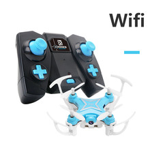 Drone 2.4G 4CH 6-Axis Mini RC Gyro Quadcopter With WIFI Camera FPV Drone with 360 Degree Rollover Function Quadcopter GIFT