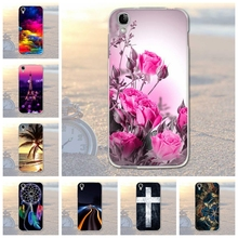 Phone Case For Alcatel One Touch Idol 3 4.7 inch 6039 6039A 6039K 6039Y Bags Soft TPU Silicon Flower Mobile Phone Cover 5.5 Inch(China)