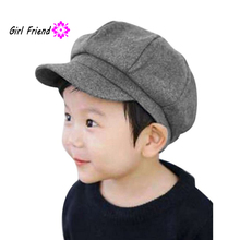 QQH Toddler Baby Beret Hat Cap Kid Boys Girls Dome Octagonal Hat Baseball Casquette 2-6T