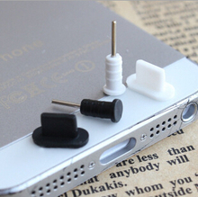 15set/lot Soft silicone anti dust plug for your phone usb charger dock and headphone jack for iphone 5 5s 6 with Dustproof plugs