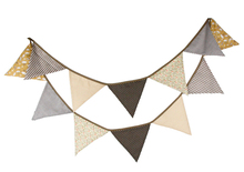 Brown cotton pennant outdoor wedding decoration flag