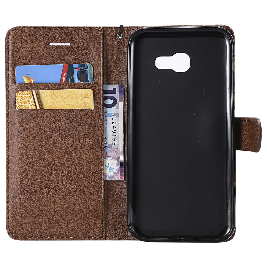 Luxury Magnetic Wallet PU Leather Case For SAMSUNG A320 Card Holder Flip Stand Phone Cover For Galaxy A520 Fundas w Card Slots (20)