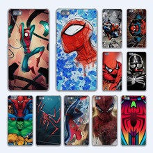 Comics Spiderman avengers design hard transparent Case Cover for Huawei P10 P8 P9 lite P7 Mate 7 8 Mate9 Mate S(China)