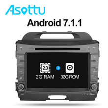 Asottu ZZP8060 2G+32G Android 7.1 car dvd player for KIA Sportage 2011 2012 2013 2014 2015 car stereo headunit gps navigation(China)