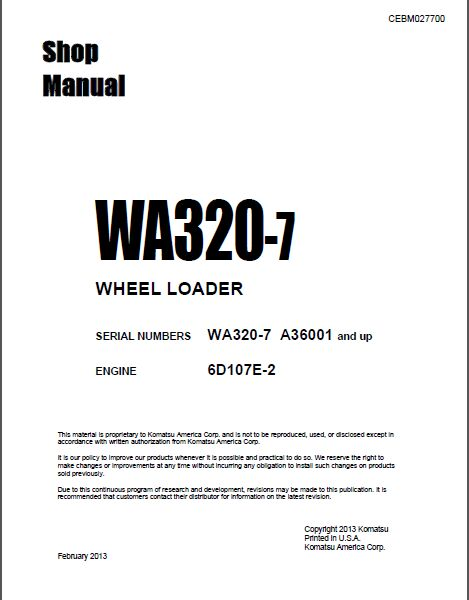 Komatsu CSS Service Crawler Dozers D-20 to D-575 Shop Manuals