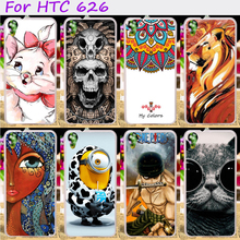 TAOYUNXI Cases For HTC Desire 626 Cover 650 628 5.0 inch 626w 626D 626G 626S Cases Plastic TPU Cute Minions Skin Bags Shell