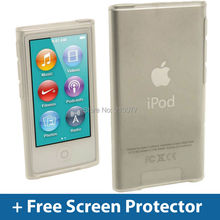 Clear Glossy TPU Gel Case for New iPod Nano 7th Generation 7G Cover Shell+Free Screen Protector FREE SHIPPING