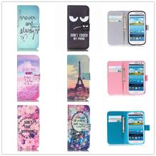 Art Flip Leather Wallet Cover For Samsung Galaxy S8 Plus S3 S4 mini S5 S6 S7 edge Case For iphone 4 4s 5 5s 5C SE 6 6s 7 Plus