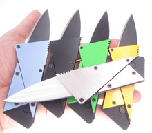 Steel Fold credit card knife blade parcel pare peeler razor cutter survive outdoor box package cut camp sharp peel open opener