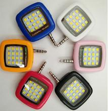 Cell Phone Camera Fill Light Mini 3.5mm Smartphone Portable 16 Leds LED Flash Fill Light Random color