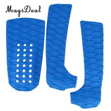 MagiDeal Professional 1 Set of 3Pcs Anti-Slip EVA Foam Surfboard Traction Tail Pads Surfing Surf Deck Grips Shortboard Accessory