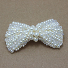girl pearls bows DIY Big Bow shoes Hair Accessories Making Cell Phone Deco wedding Bridesmaid Bridal Jewellery 200pcs/lot(China)
