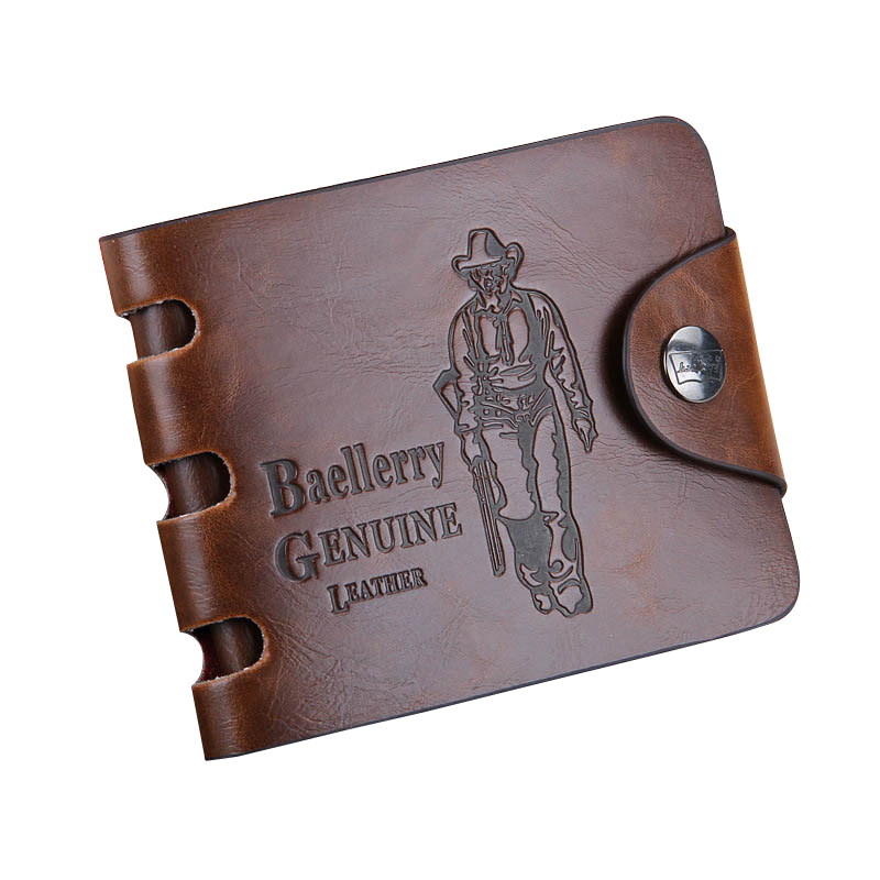 Baellerry Brand Classic Vintage Designer Mens leather wallet with HASP short purse for male card holder<br><br>Aliexpress