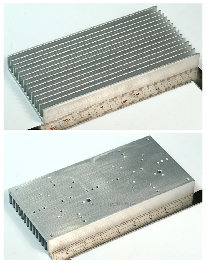 Fast Free Ship 30W High Power LED light radiator aluminum silver heatsink 228.6*113*25.7mm<br>