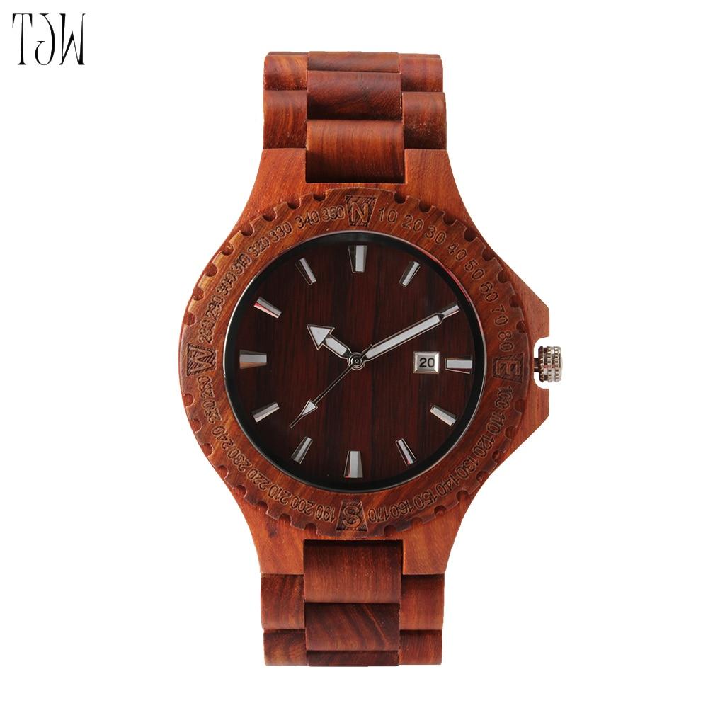 2018 TJW Full maple  All zebra wood All red sandalwood Handmade Wooden Wrist Watch <br>