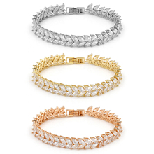 New Arrival Shinning Marquise Cubic Zirconia Crystal Bridal CZ Wedding Zircon Tennis Bracelets for Women