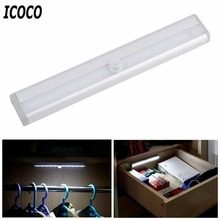 ICOCO High Bright TDL-7120 10 LED IR Infrared Motion Detector Wireless Sensor Lighting Closet Night Lamp Cabinet Wardrobe Light(China)