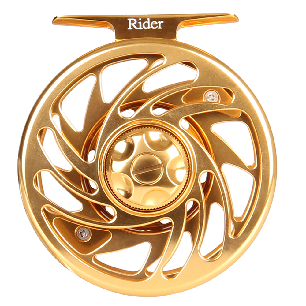 Arbor Fly-Reel Gold Machined Rider-Series CNC Colort6061 Anglerdream Large 3/4-5/6-7-/.. title=
