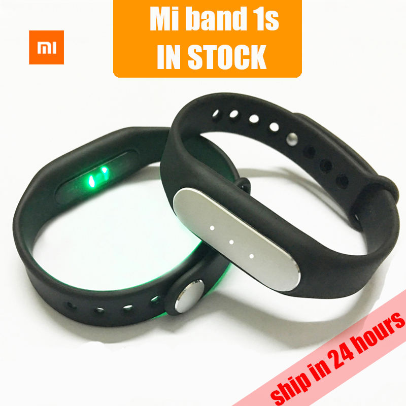 Original xiaomi mi band 1s support heart rate monitor pedometer tracking Bluetooth 4.0 Android 4.4 ios 7.0 smart wristband(China)
