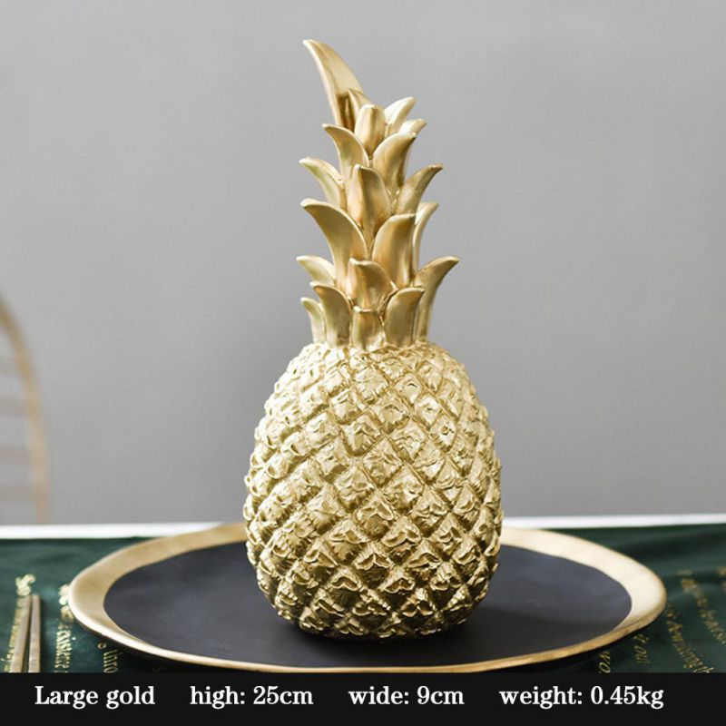 Original Nordic Modern Pineapple Fruits Living Room Wine Cabinet Window Desktop Home Decoration Furnishing Prop Accessories 8