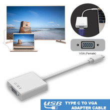 New USB 3.1 Type C USB-C to VGA Female Adapter Cable type C to hdmi USB for New Macbook 12 inch Chromebook Pixel Lumia 950XL(China)