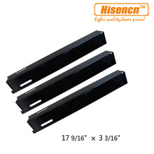 Hisencn 93181 3pcs/pk Barbecue Grill Parts Porcelain Steel Heat Shield Replacement For Perfect Flame Lowes GSC3318, GSC3318N