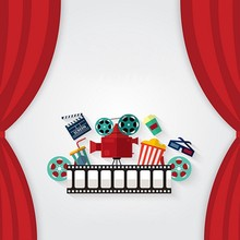 Red Curtain Cinema Film BHollywood Movie photography studio background Vinyl cloth Computer printed wall photo backdrop(China)