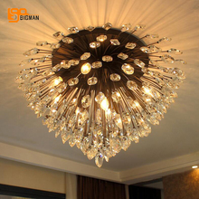 Europen style crystal ceiling lights LED crystal lamp lustres luminaire plafonnier living room lamps(China)