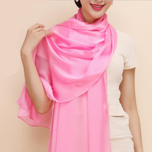 180*90cm 100% Real Pure Silk Scarf Spring Summer New Mujeres Bufanda Chal Women Solid Shawl Elegant Long Scarves Big Size Sale