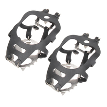 18 Teeth Non-slip Ice Snow Climbing Shoe Covers Spike Cleats Crampons Ati-slip Sharp Skating Skiing Snowing Ice Gripper  BHU2