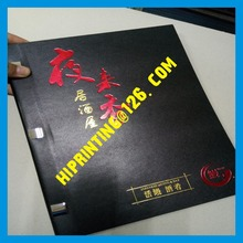 Factory price hardcover restaurant menu printing services(China)
