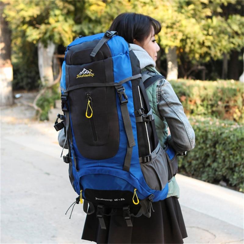 70L Waterproof camping hiking Climbing Waterproof Mountaineering Backpack Outdoor Travel Bags Hiking Backpack 5 Colors<br>