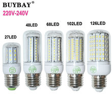 Durable LED bulb SMD 2835 E27 LED lamp 220V 230V 240V 27/48/68/102/126LEDs e27 LED corn bulb light lampada more stable