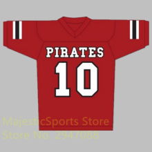 J.J. Watt 10 Pewaukee Pirates High School Football Jersey Stitch Sewn American Football Jersey M-3XL Free Shipping(China)