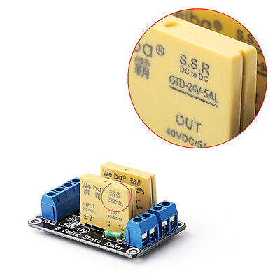2 Channel SSR Solid State Relay High-low Trigger 5A 24V For Arduino UNO R3<br><br>Aliexpress