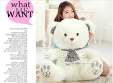 stuffed animal cute White teddy bear plush toy 80cm CK scarf bear doll about 31 inch toy p0806(China)