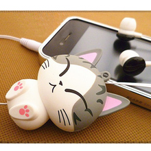 New Cat cartoon automatic retractable earphones for mobile phone cartoon earphones 3.5mm for Samsung Huawei Xiaomi
