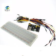 MB102 Breadboard Power Module+MB-102 830 Points Solderless Prototype Bread Board kit +65 Flexible Jumper Wires(China)