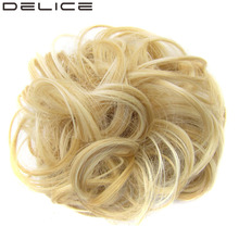 [DELICE] 20pcs/Lot Women's Curly High Temperature Fiber Synthetic Scrunchie Wrap Hair Ring 30g/piece(China)